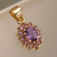 NEW CLEARANCE GOLD OVER 925 STERLING 1.73 CT GENUINE IOLITE OVAL PENDANT #521