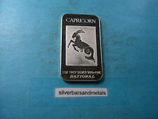 CAPRICORN NATIONAL MINT ZODIAC 999 SILVER BAR RARE MINT COOL ITEM TO GET!!!
