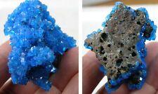 #5 1 3/4 Poland Lab Grown Raw Chalcanthite Crystal Cluster Specimen 47mm