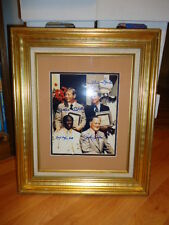 AUTOGRAPHED HOF INDUCTION PHOTO MICKEY MANTLE WHITEY FORD BELL CONLAN JSA COA