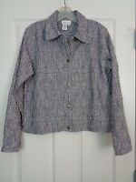 Coldwater Creek Women's Jacket Paisley Denim Size Small EXC