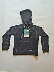 Trespass Alexia Boys Girls Kids Childrens Hooded Mirco Fleece Jacket Top Grey