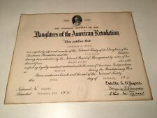 Vintage 1950 Daughters Of The American Revolution Certificate Samuel Foulke