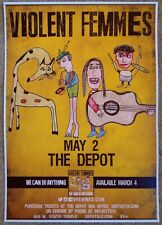 Violent Femmes 2016 Gig Poster Salt Lake City Utah Concert