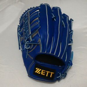 "ZETT BPGT-1737 Pro Model Royal 13"" Leather LeftHandThrow Outfield Baseball Glove"
