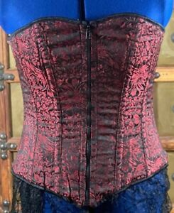 Steel boned corset by Heavy Red size XL for waist 28 - 32 inches