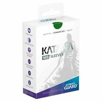 Ultimate Guard Katana Card Sleeves - Green - 100 Count - 66x91mm Standard Size