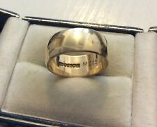 Lovely Quality Full Hallmarked Vintage Solid Heavy Wide 9CT Wedding Band - P