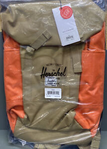 "Herschel Iona 15"" Laptop Backpack, Kelp/Vermillion Orange, One Size NWT"