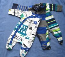 NEXT 3 Pack Baby Boys Sleepsuits Transport First Size BNWT