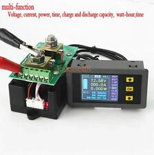 Digital Combo Meter DC Battery 120V 100A LCD Voltage Current Watt Power capacity