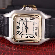 CARTIER PANTHERE WATCH 18K Yellow Stainless Steel cartier Watch Cartier Mid Size