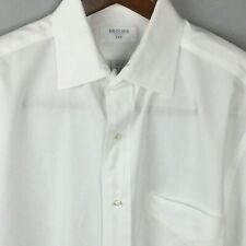 Brooks 346 Men's Size 15 1/2 - 32 White Button Front Shirt with French Cuffs