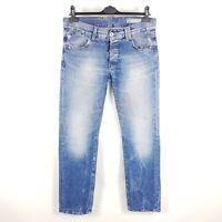 Tommy Hilfiger Jeans Rogar Regular Herren W32 L34 Blau Straight Distressed
