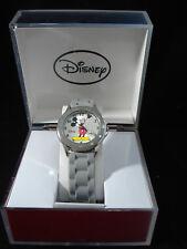 Mickey Mouse Disney Analog Display Quartz Grey Silicone Watch Band