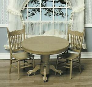 Chrysnbon Dolls House Table & Chairs Dining Furniture Kit Model Kit F-270