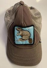 GOORIN BROS Animal Farm Brown Beaver Adjustable Mesh Trucker Snap Back Cap