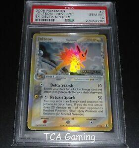 PSA 10 GEM MINT Jolteon 7/113 Ex Delta Species REVERSE HOLO Pokemon Card