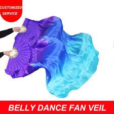 Women New Arrival 100% Silk Fan Veils 1.8 M Chinese Belly Dance Fan Veil