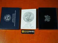 NO COIN: 2019 S ENHANCED REVERSE PROOF SILVER EAGLE BOX/COA OGP ONLY
