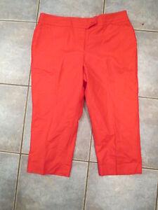NWT Women's Ann Taylor Pink Pants Curvy Cropped Leg Size 12P Petite
