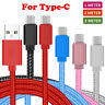 for Apple Android Long Braided USB C Type C Data Phone Charger Cable Lead 1m 2m