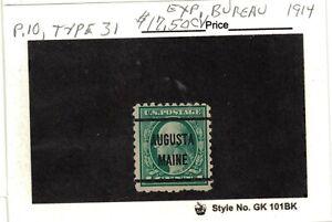 JimbosStamps, U.S.precancels,1914 experimental bureau , AUGUSTA MAINE