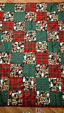 """One Handmade and tide toddle QUILT size 42"""" x54"""" christmas"""