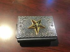 BEAUTIFUL BIKERS BELT BUCKLE BOX WITH CIGARETTE CASE & BUILT IN LIGHTER NEW