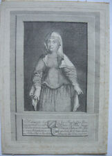 Margarete von Tirol Görz gen. Maultasch (1318-1369) Orig Kupferstich um 1750