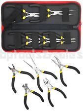 5pc Mini Pliers Set Precision Pliers Linesman Bent Needle Nose Pliers w/ Pouch