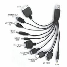 CABLE CHARGER MULTIPLE UNIVERSAL 10 IN 1 A USB 2.0 APPLE SAMSUNG HTC LG Y MORE