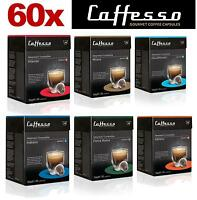 60 x Nespresso Caffesso Compatible Coffee Capsules Improved 6 Blend Variety Pack