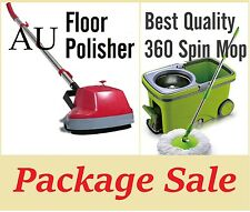 Best quality Spin 360° Mop + 5 in1 Electric Floor Polisher Scrubber