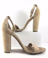 Steve Madden Beige Suede Carrson Open Toe Sandals Womens Size US 8M