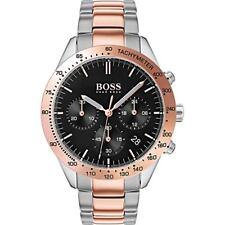 *BRAND NEW* Hugo Boss Men's Tachymater Rose Gold and Silver Tone Watch 1513584