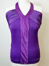 BNWOT Stunning Elasticated, Purple, Halterneck Top by Ted Baker. Size 10. Ted 2