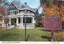 postcard USA Ohio Home of Warren G harding  Marion   unposted