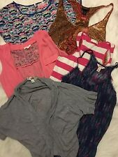 Lot of 6 Womens TANK TOPS SHIRT Forever 21 Lane Bryant Candies Summer SZ LARGE
