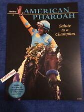 MINT AMERICAN PHAROAH COMMEMORATIVE 100+ COLOR PHOTOS BLOOD HORSE TRIPLE CROWN