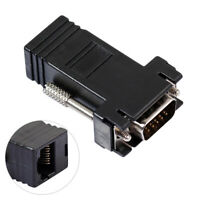 CW_15Pin CAT5E CAT6 VGA to RJ45 Extender Male to LAN Ethernet Adapter Connector