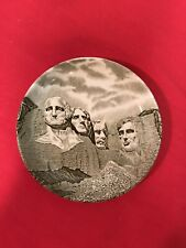 """MINIATURE 4 X 4"""" Antique Plate Of MT. RUSHMORE By Johnson Bros. ...RARE"""