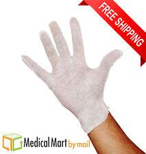 12 Pairs White Cotton Lisle Inspection Gloves for Mens ( 1 Dozen )