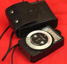 Vintage Soviet USSR Exposure Light meter LENINGRAD 7 TESTED - WORKING