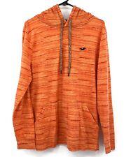 Hollister Pullover Hoodie Medium Orange Long Sleeves Front Pockets Cotton Blend