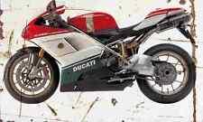 Ducati 1098S L 2007 Aged Vintage Photo Print A4 Retro poster