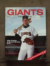 1991 Giants Magazine - Robby Thompson, with 6  trading cards