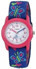 NEW Timex T89001 Kids Watch Hearts Butterflies Elastic Fabric Childrens T890019J