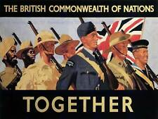 WAR BRITISH COMMONWEALTH EMPIRE WW2 SOLDIER MILITARY UK VINTAGE AD POSTER 2632PY