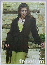 Twilley's  Ladies Jacket  Knitting Pattern In Freedom Wool  Leaflet 9026